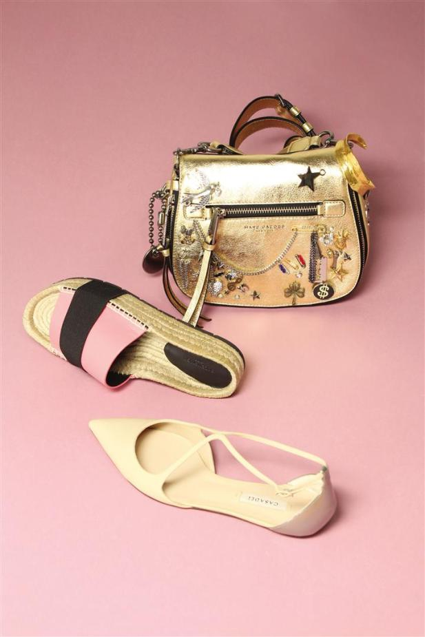 Bag: Marc Jacobs - Thuraya Mall Espadrilles: Balenciaga - Al Ostoura The Avenues Mall - Thuraya MallShoes: Casadei - Al Ostoura The Avenues Mall - Al Ostoura Thuraya Mall
