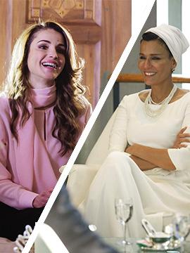 الأناقة الملكيّة: الملكة رانيا مقابل الشيخةموزة