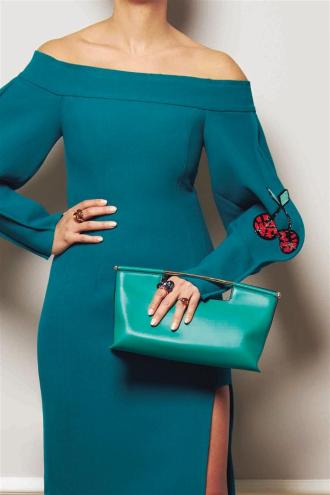 Dress: Natasha Zinko Bag: Delpozo Jewelry: Pomellato