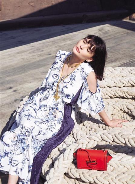 DRESS: Antonio Marras - Thuraya Mall BAG: Loewe - Al Ostoura Thuraya Mall NECKLACE: Vintage Chanel - What Goes Around Comes Around Thuraya Mall