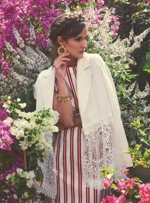 JACKET: CO/MUN - All Al Ostoura Stores EARRING & BRACELET: Vintage Chanel - What Goes Around Comes Around Thuraya Mall DRESS: Balenciaga - Thuraya Mall, Al Ostoura Salhiya Complex