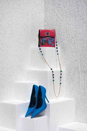 Bag: Andrew GN - Al Ostoura Thuraya Mall Shoes: Balenciaga - Thuraya Mall, Al Ostoura The Avenues