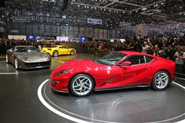 The new 812 superfast stars on the Ferrari stand
