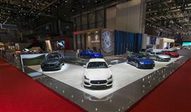 Maserati car debut at Geneva International Motor Show