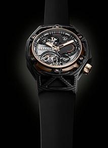 Hublot Techframe Ferrari 70 Years Tourbillon Chronograph PEEK ساعة Carbon & King Gold ساعة استثنائيةلمناسبة هامة