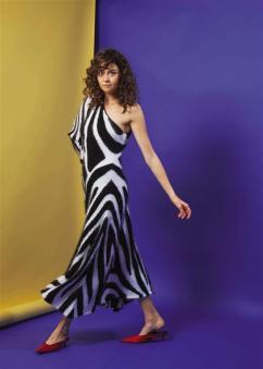 DRESS: Emilio Pucci - Al Ostoura Roof Thuraya Mall SHOES: Balenciaga - Thuraya Mall